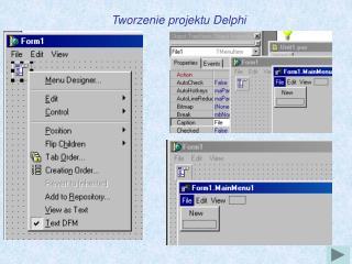 Tworzenie projektu Delphi