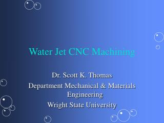 Water Jet CNC Machining