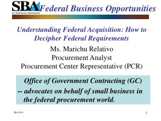 Federal Business Opportunities