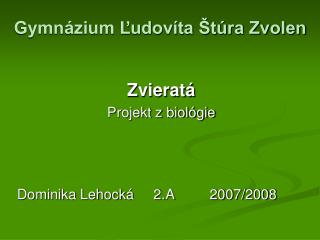 Gymnázium Ľudovíta Štúra Zvolen