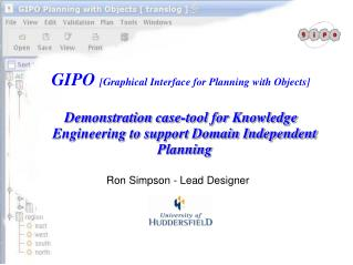 GIPO  [Graphical Interface for Planning with Objects]