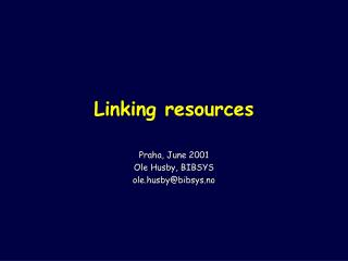 Linking resources