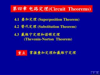 第四章 电路定理 (Circuit  Theorems)