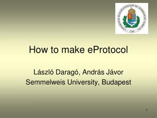 How to make eProtocol