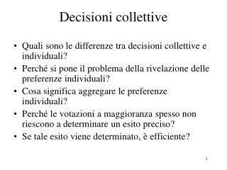 Decisioni collettive