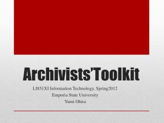 Archivists�Toolkit
