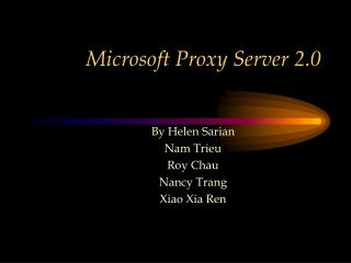 Microsoft Proxy Server 2.0