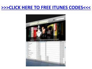 Free iTunes Codes