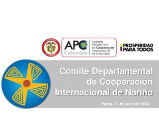 Comité Departamental de Cooperación Internacional de Nariño