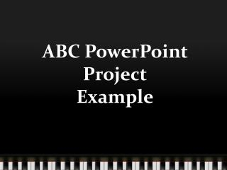 ABC PowerPoint Project Example