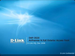 DAP-3520 AirPremier N PoE Exterior Access Point