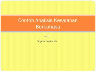 Contoh Analisis Kesalahan Berbahasa