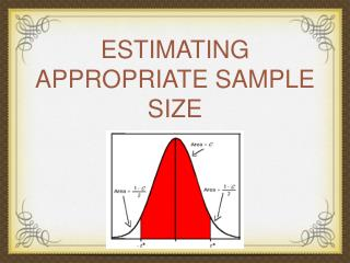 ESTIMATING APPROPRIATE SAMPLE SIZE
