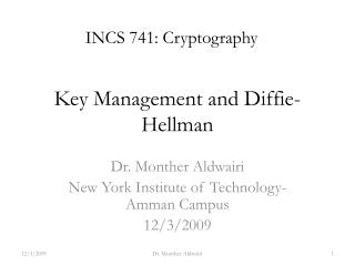 Key Management and Diffie-Hellman