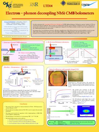 Electron – phonon decoupling  NbSi  CMB  bolometers