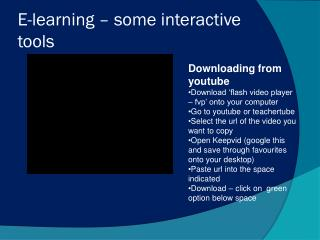 E-learning – some interactive tools