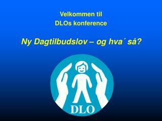 Velkommen til DLOs konference Ny Dagtilbudslov – og hva´ så?