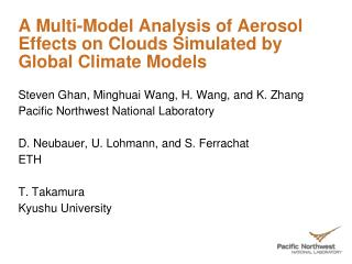 A Multi-Model Analysis of Aerosol Effects on Clouds Simulated by Global Climate Models