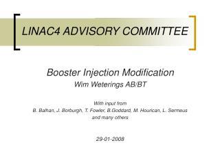 LINAC4 ADVISORY COMMITTEE
