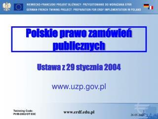 Polskie prawo zamówień publicznych