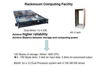 Achieve  higher reliability Achieve Balance between storage and computing power