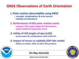 GNSS Observations of Earth Orientation