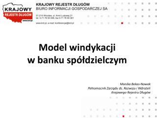 Model windykacji  w banku spółdzielczym