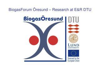 BiogasForum Öresund – Research at E&R DTU