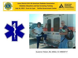 Lions District 24-A & American Diabetes Association