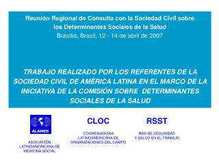 Acción en el  nivel regional, nacional y local