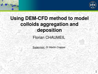 Using DEM-CFD method to model colloids aggregation and deposition