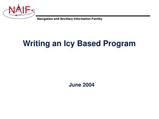 Writing an Icy Based Program