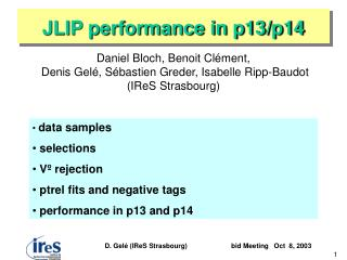 JLIP performance in p13/p14