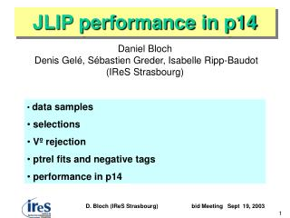 JLIP performance in p14