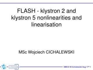 FL A SH - klystron 2 and klystron 5 nonlinearities and linearisation