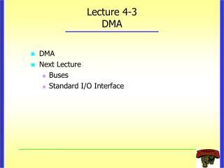 Lecture 4-3 DMA