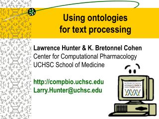 Using ontologies  for text processing