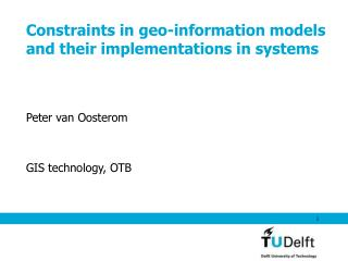 Constraints in geo-information models and their implementations in systems
