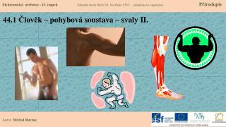 44.1 Člověk – pohybová soustava – svaly II.
