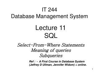 IT 244  Database Management System