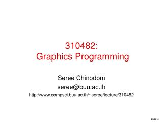 310482:   Graphics Programming