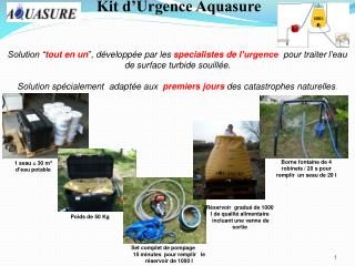 Kit d'Urgence Aquasure