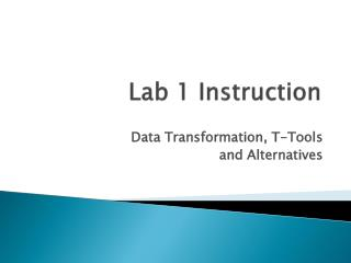 Lab 1  Instruction