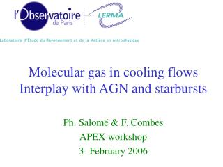 Molecular gas in cooling flows Interplay with AGN and starbursts