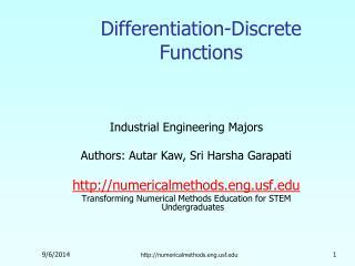 Differentiation-Discrete Functions
