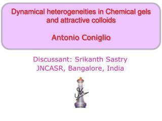 Discussant: Srikanth Sastry JNCASR, Bangalore, India