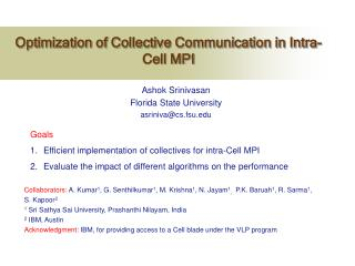 Optimization of Collective Communication in Intra-Cell MPI