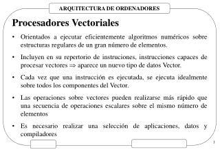 Procesadores Vectoriales