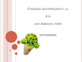 Colegio agustiniano c. s. 6 d luz Adriana niño noviembre