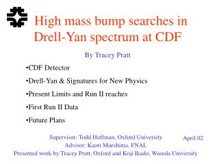 High mass bump searches in  Drell-Yan spectrum at CDF